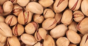 Close up of fresh pistachios. Royalty Free Stock Photo