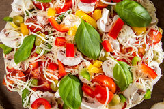 Close-up of fresh raw pizza stock images