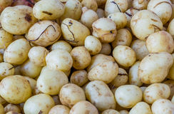 Close-up of a fresh raw potatoes background. Close-up of a fresh raw potatoes background Royalty Free Stock Photography
