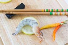 Fresh raw shrimp. Close up fresh raw shrimp Stock Photos