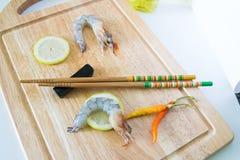 Fresh raw shrimp. Close up fresh raw shrimp Stock Images