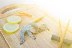 Fresh raw shrimp. Close up fresh raw shrimp Royalty Free Stock Images