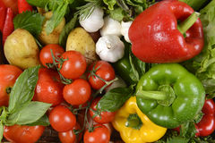 Close up of fresh raw vegetables for healthy.clean eating dieting and healthy organic food concept. Stock Photo