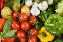 Close up of fresh raw vegetables for healthy.clean eating dieting and healthy organic food concept. Stock Photography