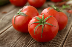 Close-up of fresh, ripe tomatoes Stock Images