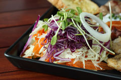 Close up of fresh salad as side dish Royalty Free Stock Photo
