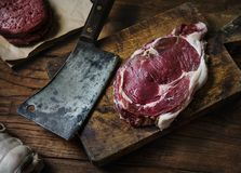 Close up of a fresh steak royalty free stock images