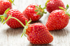 Close up fresh strawberries Stock Photo