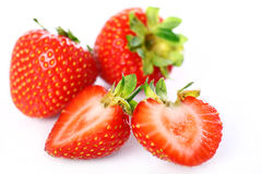 Close Up of fresh strawberry berries Stock Photos