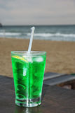 Close up of fresh summer drink, mint with carbonated water, ice Royalty Free Stock Photos