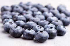 Close Up of Fresh and Tasty Blueberries on Background.  Royalty Free Stock Images