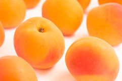Close up on Fresh Whole Apricots Royalty Free Stock Photography