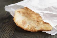Close up of freshly baked flat pita bread Royalty Free Stock Photo