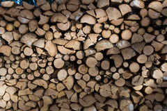 Close up of freshly chopped wood pile Stock Photos