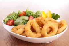 Fried calamari. Close up on fried calamari Stock Images