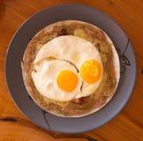 Close up fried egg Stock Image