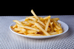 Close up Fried French Fries in white plate. Picture of Close up Fried French Fries in white plate Stock Photo