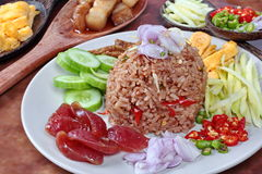 Close up fried  rice with shrimp paste. Stock Image