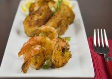 Close-Up of Fried Shrimp Royalty Free Stock Image