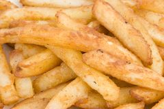 Close Up of fries. Close up of a pile of fries/chips Royalty Free Stock Images