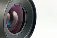 Close-up of the front lens Stock Photos