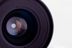 Close-up of the front lens Royalty Free Stock Photo