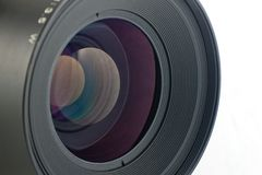 Close-up of the front lens Stock Photography