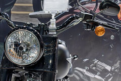 Close up of front light of motorcycle Stock Image