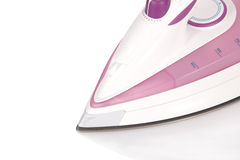 Close-up of the front of a modern steam flat iron Royalty Free Stock Photo