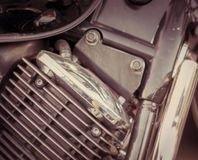 A close-up of the front part of the frame of the motorcycle. Close-up of the front part of the frame of the motorcycle stock photography