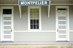 Close up of front of Post Office in Montpelier, VA Stock Image