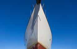 Close up of front side of big ship in port Stock Images