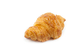 Close up  front side croissant on. White background Royalty Free Stock Photo
