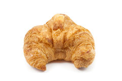Close up front side croissant. On white background Royalty Free Stock Photo