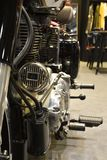 Close-up Front to back of the Royal Enfield Classic 500. Nonthaburi,THAILAND - April 6, 2018 : Close-up Front to back of the Royal Enfield Classic 500, vintage Stock Images