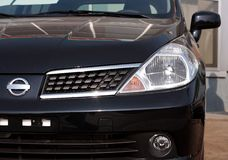 Close-up front view of car stock photos