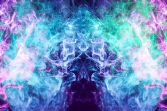 Close-up frozen abstract movement of  explosion smoke royalty free illustration