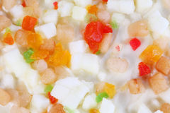 Close-up of frozen fruit pizza Royalty Free Stock Photography