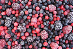 Close up of frozen mixed fruit royalty free stock photos