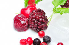 Close up of frozen mixed fruit Royalty Free Stock Photography
