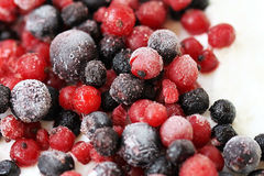 Close Up Frozen Mixed Fruits - Berries Stock Photos