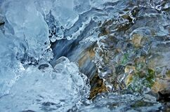 Close-up of Frozen Water Stock Images