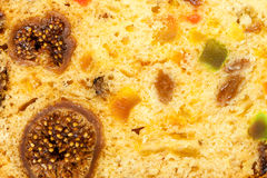 Close up fruit cake stollen as food background Stock Images