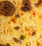 Close up fruit cake stollen as food background Royalty Free Stock Photography