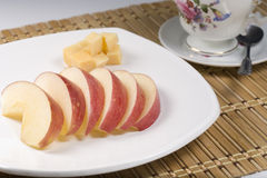 Close up of fruit and cheese. Stock Photography