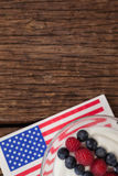Close-up of fruit ice cream with 4th july theme Royalty Free Stock Photos