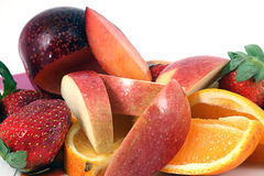 Close up of Fruit includes app Royalty Free Stock Photo