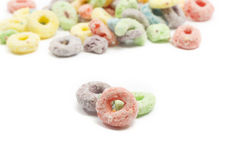 Close up of fruit ring cereal Royalty Free Stock Photo