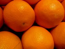 Close up of Fruity Oranges. Close up of bright orange fruity oranges from California. This citrus fruit is very good for Vitamin C stock images