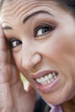 Close-up of frustrated woman Stock Photography
